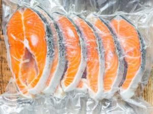 Frozen salmon fillets in a vacuum package - Sunleaf Foods