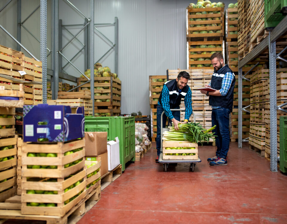Co-packer company staff packing vegetables