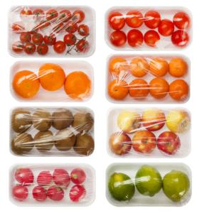Packed fresh fruits